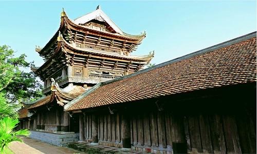 Đến chùa Keo ngắm nhìn cảnh quan đẹp tựa tranh vẽ của miền đất lúa - anh 2
