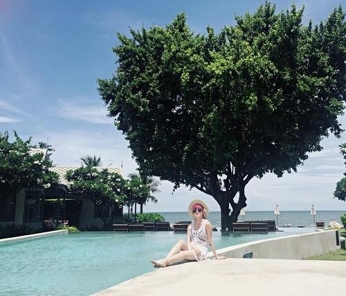 """Thiều Bảo Trâm khoe dáng """"nuột"""" trong chuyến du lịch Thái Lan - anh 3"""