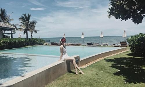 """Thiều Bảo Trâm khoe dáng """"nuột"""" trong chuyến du lịch Thái Lan - anh 4"""