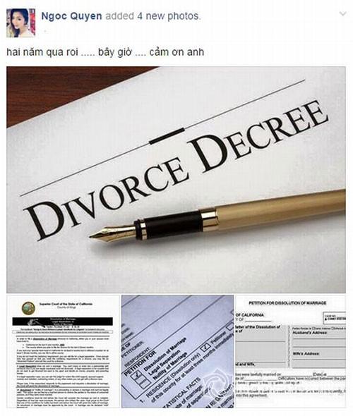 Những lá đơn ly hôn gây 'chấn động' của sao Việt - anh 1