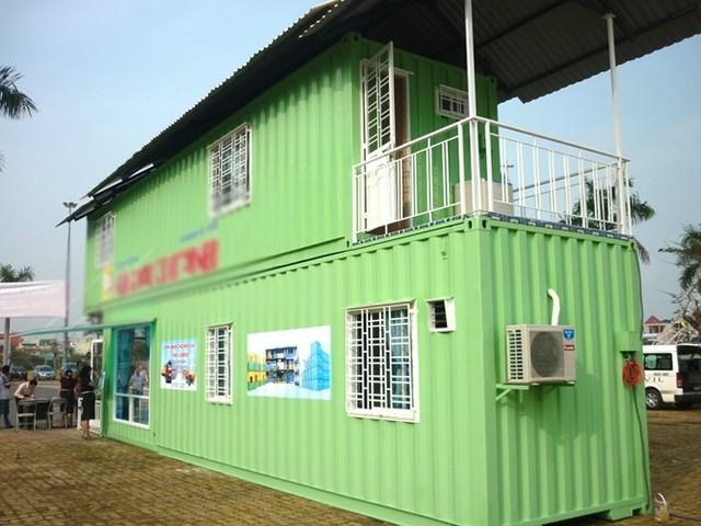 Ngôi nhà bằng container không móng giá 100 triệu đồng - anh 1