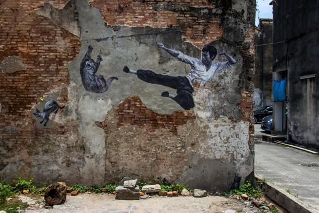 Ngỡ ngàng với bức tranh nghệ thuật trên đường phố Penang - anh 11