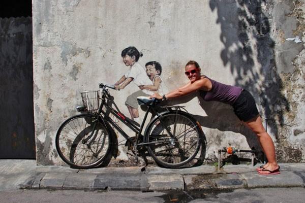 Ngỡ ngàng với bức tranh nghệ thuật trên đường phố Penang - anh 2