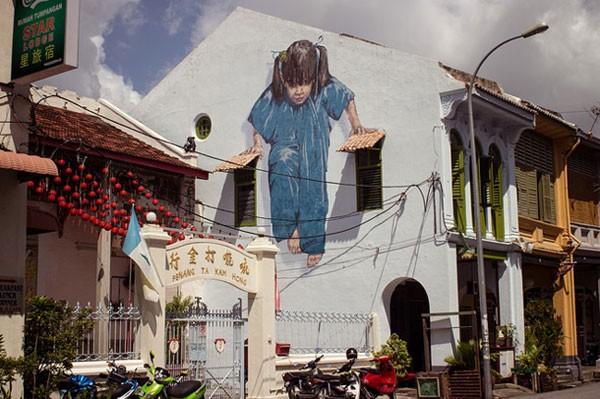 Ngỡ ngàng với bức tranh nghệ thuật trên đường phố Penang - anh 3