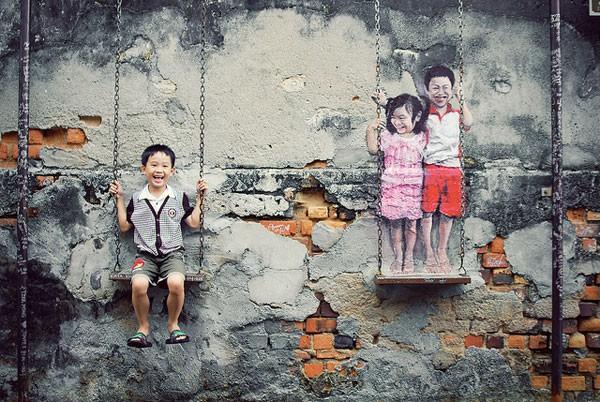 Ngỡ ngàng với bức tranh nghệ thuật trên đường phố Penang - anh 6