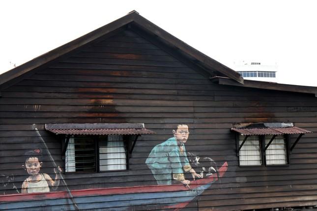 Ngỡ ngàng với bức tranh nghệ thuật trên đường phố Penang - anh 8