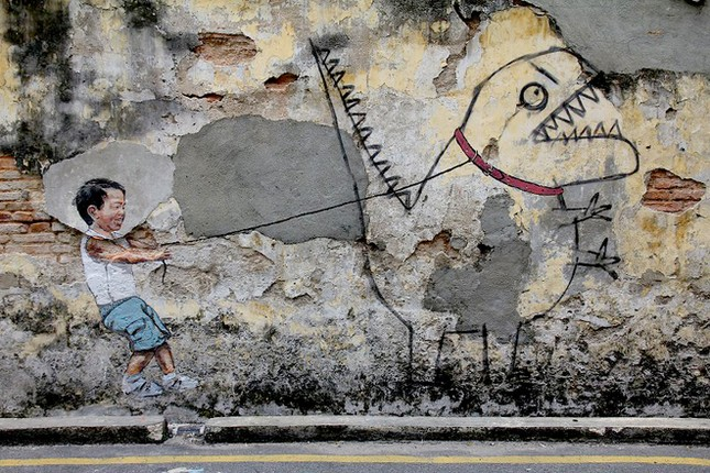 Ngỡ ngàng với bức tranh nghệ thuật trên đường phố Penang - anh 9