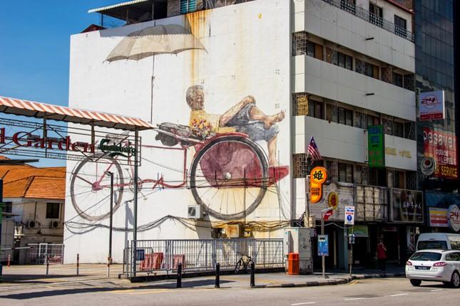 Ngỡ ngàng với bức tranh nghệ thuật trên đường phố Penang - anh 10