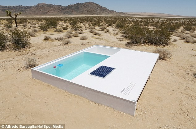 Độc đáo bể bơi bí mật giữa sa mạc Mojave, California - anh 4