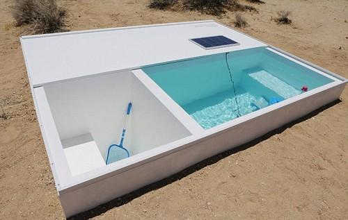 Độc đáo bể bơi bí mật giữa sa mạc Mojave, California - anh 5