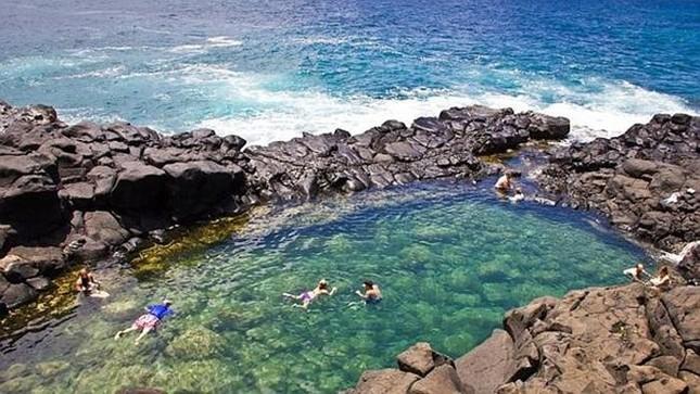 """Mê mẩn trước vẻ đẹp """"đốn tim"""" du khách cuả bể bơi đẹp nhất Hawaii - anh 1"""