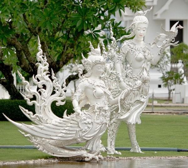 Chiêm ngưỡng vẻ đẹp kỳ ảo của ngôi đền trắng độc đáo ở Thái Lan - anh 8