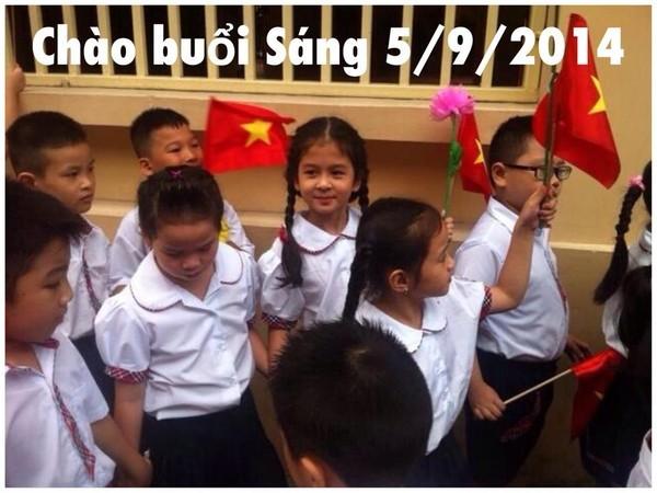 Sao Việt đồng loạt khoe ảnh con ngày khai trường - anh 8