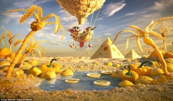 Ngỡ ngàng trước bức tranh phong cảnh làm từ thực phẩm - anh 4