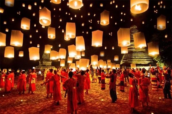 Lung linh lễ hội Loy Krathong tại đất nước chùa tháp - anh 4