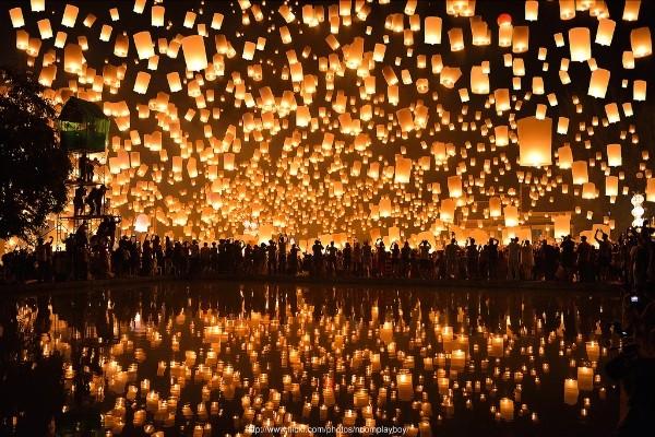 Lung linh lễ hội Loy Krathong tại đất nước chùa tháp - anh 8