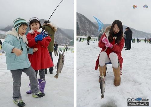 Độc đáo lễ hội câu cá bằng miệng trên băng ở Hàn Quốc - anh 8