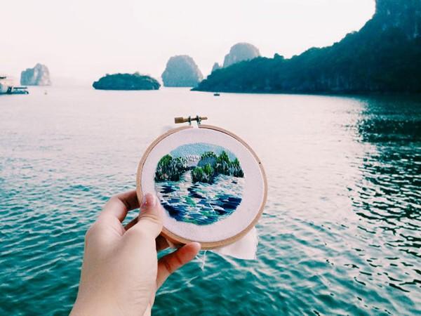 Việt Nam đẹp lung linh trong tranh thêu của du khách người Singapore - anh 2
