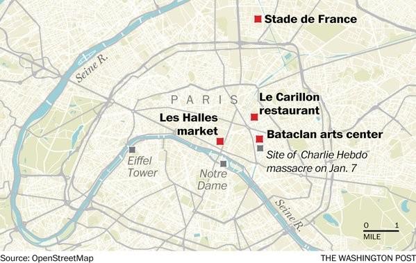 Khủng bố ở Paris, hơn 120 người chết, 200 người bị thương - anh 1
