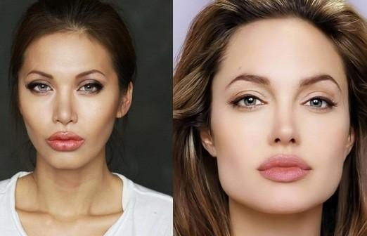 """Màn """"phù phép"""" siêu mẫu Việt Nam thành sao hollywood Angelina Jolie - anh 1"""