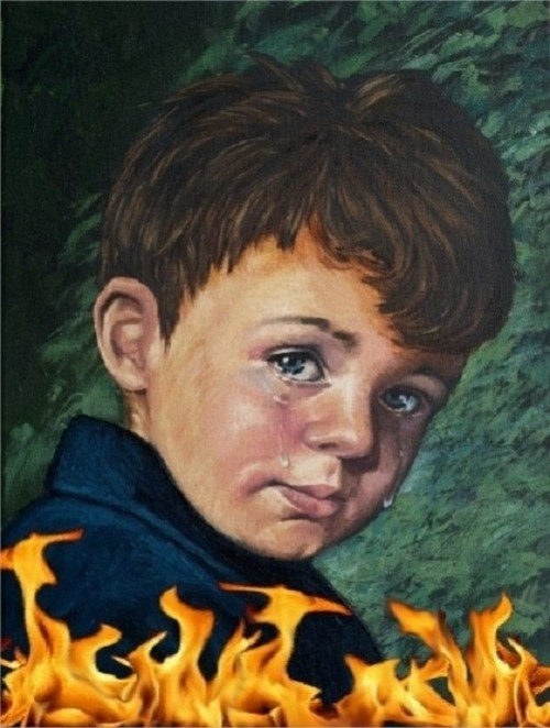 """Ám ảnh lời nguyền chết chóc của bức tranh """"Cậu bé khóc"""" - anh 1"""