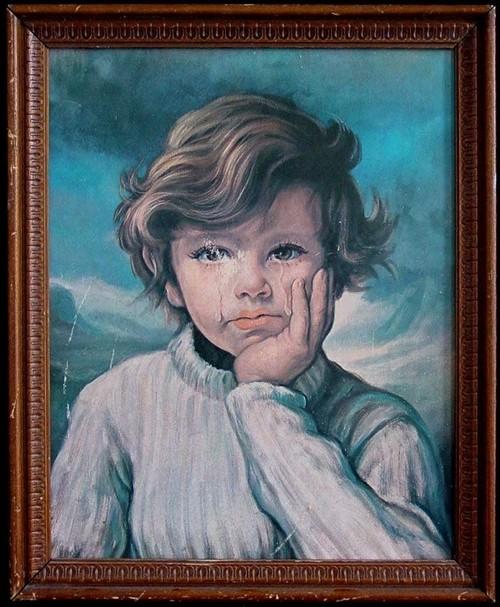 """Ám ảnh lời nguyền chết chóc của bức tranh """"Cậu bé khóc"""" - anh 4"""