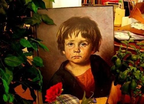 """Ám ảnh lời nguyền chết chóc của bức tranh """"Cậu bé khóc"""" - anh 6"""
