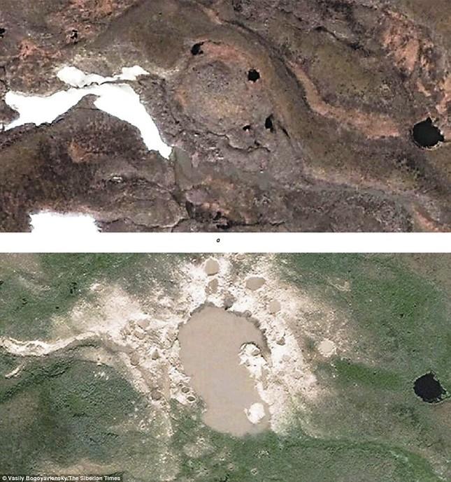 4 miệng hố bí ẩn mới được phát hiện ở Siberia - anh 4
