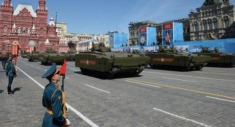Toàn cảnh lễ duyệt binh hào hùng trên Quảng trường Đỏ kỷ niệm 70 năm chiến thắng phát xít Đức - anh 10