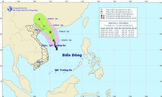 Tin tức mới nhất về cơn bão số 1 trên biển Đông - anh 1