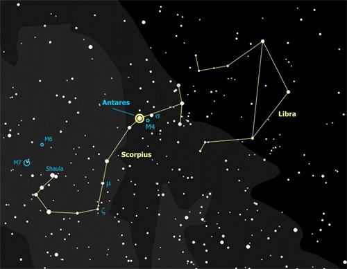 Cách quan sát chòm sao Bọ Cạp trong mùa hè - anh 1