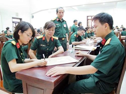 Chỉ tiêu xét tuyển NV2 của các trường khối Quân đội - anh 1