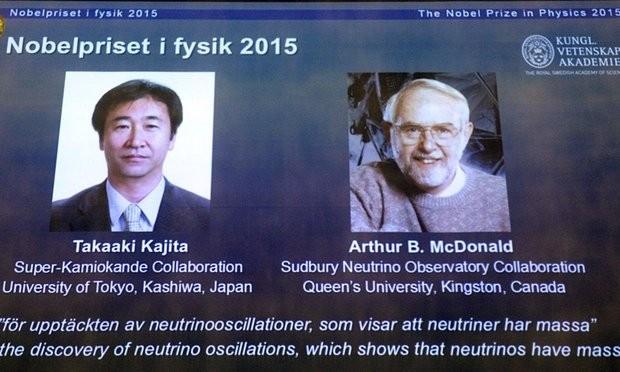 """Nobel Vật lý được trao cho người giải mã bí ẩn hạt neutrino """"ma quái"""" - anh 1"""