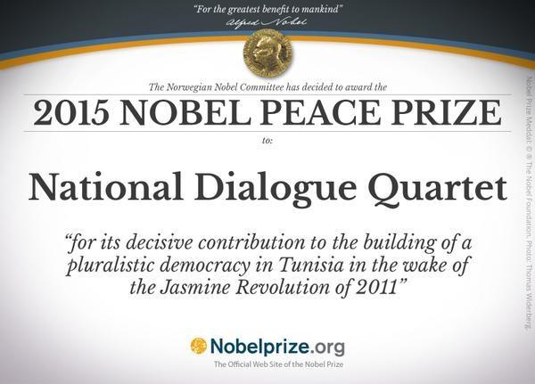 Nobel Hòa bình 2015 gây sửng sốt khi trao cho Bộ tứ đối thoại quốc gia Tunisia - anh 1