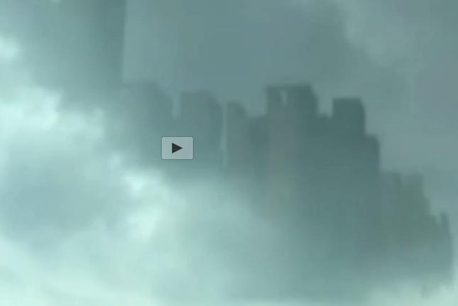 """Thực hư """"thành phố ma"""" khổng lồ xuất hiện trên mây - anh 1"""