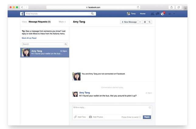 Facebook ra mắt tính năng mới giúp gửi tin nhắn tới bất kỳ ai dễ hơn - anh 2