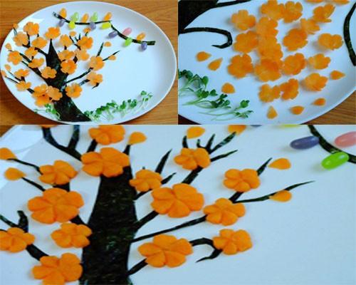 Cách cắt tỉa hoa từ cà rốt thêm sắc màu đón Tết - anh 3