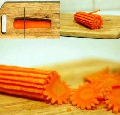 Cách cắt tỉa hoa từ cà rốt thêm sắc màu đón Tết - anh 6