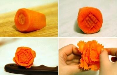 Cách cắt tỉa hoa từ cà rốt thêm sắc màu đón Tết - anh 7