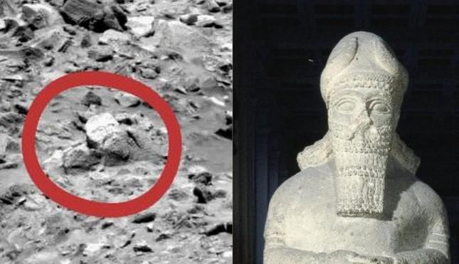Nghi vấn tượng thần cổ đại xuất hiện trên sao Hỏa - anh 1