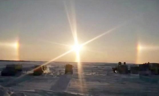 Kỳ lạ cảnh tượng 3 mặt trời mọc cùng lúc ở Nga - anh 2
