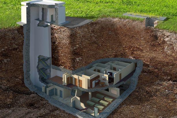 Khám phá tổ hợp căn hộ dưới lòng đất có khả năng chống bom hạt nhân - anh 1