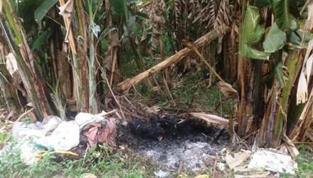 Tá hỏa phát hiện xác người cháy đen trong bụi chuối - anh 1