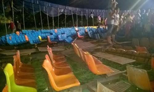 Sập rạp xiếc ở Hải Dương, 18 trẻ em bị thương - anh 1