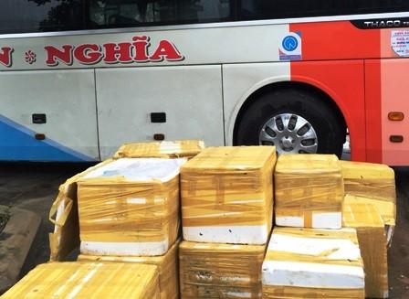 Bắt xe khách vận chuyển 900kg nội tạng thối ra Hà Nội tiêu thụ - anh 1