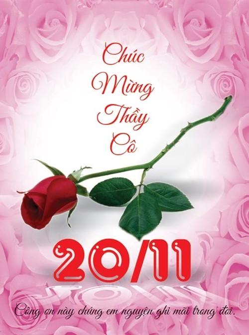 Tổng hợp mẫu thiệp chúc mừng ngày nhà giáo Việt Nam 20/11 - anh 12