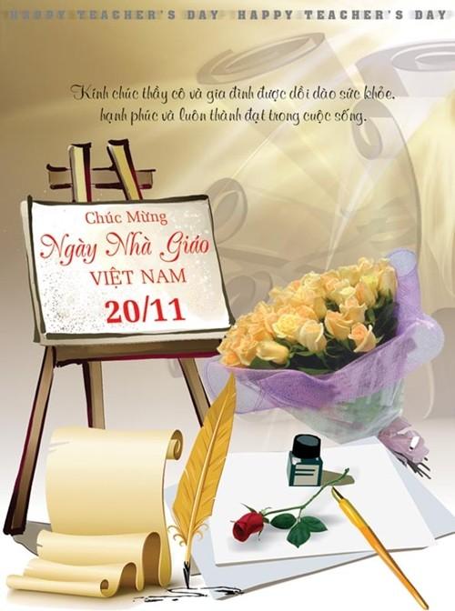Tổng hợp mẫu thiệp chúc mừng ngày nhà giáo Việt Nam 20/11 - anh 13