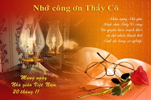 Tổng hợp mẫu thiệp chúc mừng ngày nhà giáo Việt Nam 20/11 - anh 2