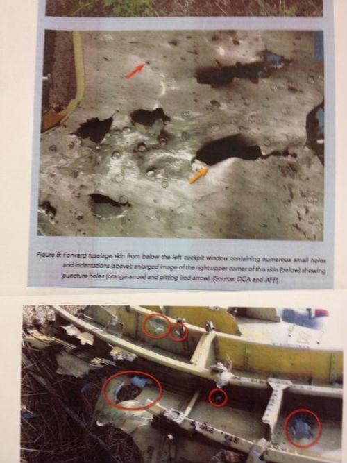 Bằng chứng khẳng định máy bay MH17 bị bắn từ bên ngoài - anh 1