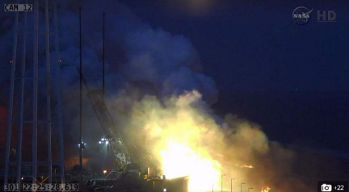 Chùm ảnh: Tàu tiếp tế cho Trạm Vũ trụ Quốc tế nổ tung xác pháo - anh 5